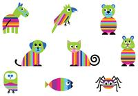 Bright Animal Brushes Pack Two