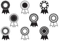 Black and White Rosette Award Brushes Pack