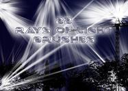 22 Rays of Light Brushes