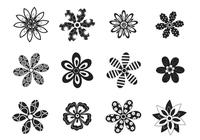 Decorative-black-and-white-flower-brushes