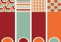 Retro Patterned Banner Pack
