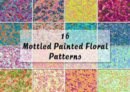 16 Mottled Painted Floral Patterns