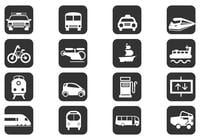 Transportation Brush Icons Pack