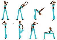 Fitness Girl Silhouette Brushes Pack