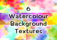 6 A4 Watercolour Texture Backgrounds