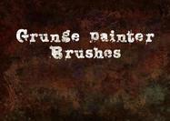 Pincéis de pintura em grunge