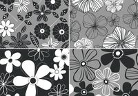 Black-and-white-retro-floral-background-four-pack-photoshop-backgrounds