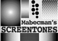 Mabecman's SCREENTONES Halbtonbürsten
