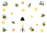 Cartoon-bee-brushes-pack