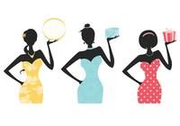 Fashionista Women Silhouette Brushes and Background Pack