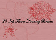 Ink-drawing-flower-brushes