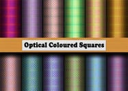 12 Optical Coloured Squares Muster