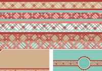 Plaid Border Brushes and Backgrounds Pack
