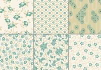 Dusty Teal Floral Hintergrund Pack