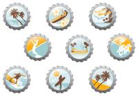 Surf Beach Bottle Cap Brushes Pack