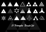 21 driehoekige borstels