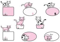 Brosses Cute Cat Label