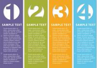 Vertical-numbered-banner-templates