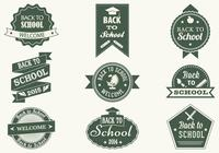 Vintage Back To School Pinsel Etiketten und PSD Pack
