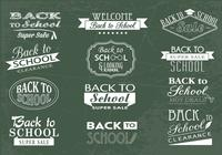 Back to School Chalkboard and Sale Brushes and PSDs