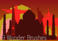 9-wonders-of-the-world-brushes