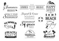 Summer Typography Brushes Pack