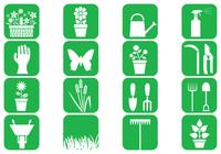 Gartenarbeit Pinsel Icons Pack