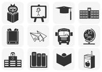 Schule Pinsel Icons Pack