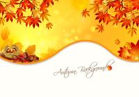 Warm Autumn Background PSD
