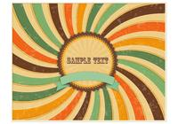 Retro Grungy Sunburst Background PSD
