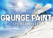 5 Superposiciones de textura de pintura de grunge