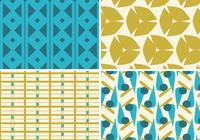 Teal and Gold Funky Pattern Pack