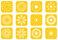 Abstrakt Sunny Flower Brushes Pack