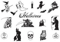 Hand Drawn Halloween Brushes Pack