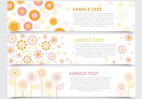Abstract Floral Banner Vorlage Pack