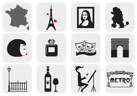 Paris, Frankrike Brush Elements Pack
