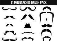Moustaches Brush Pack
