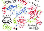 Happy-girly-girl-love-doodles-brush-set