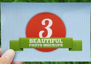 3 Beautiful 4x6 Photo Mockup PSDs