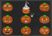 Chalk Drawn Jack-o-lantern PSD Pack
