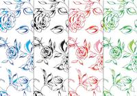 Handgeschilderde Floral Background Pack