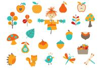 Elements PSD de Cartoon Fall