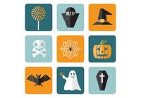Flaches Halloween PSD Icons Pack