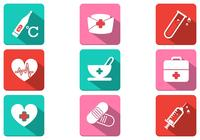 Long Shadow Medical Icon PSD Pack