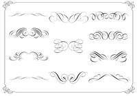 Kalligraphische Ornament Pinsel Pack