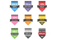 Venta de la flecha brillante PSD Badge Pack