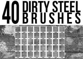 Dirty-steel-brushes