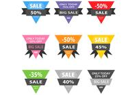 Gestikte Triangle Sale Badge PSDs