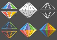 Rainbow Diamond PSD Logo Pack