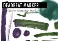 "Free Photoshop Marker Brushes # 24 - ""Deadbeat Marker"""